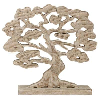 Tree of Life Hand Carved Decorative Statue Natural