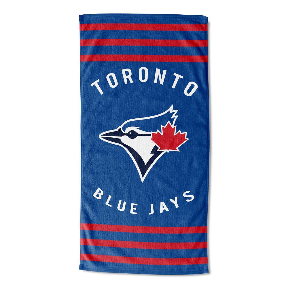 Blue Jays Stripes Multi Colored Beach Towel