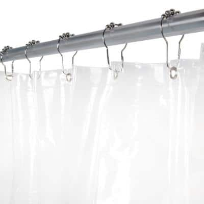 Medium Weight PEVA 70 in. W x 72 in. H Clear Shower Curtain Liner