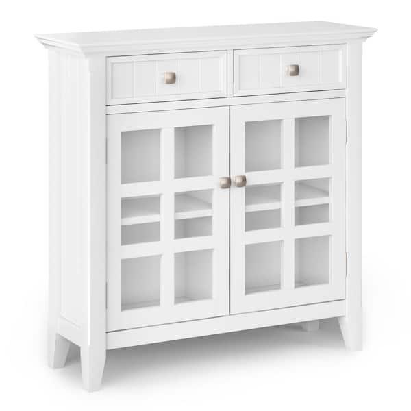 White Entryway Storage Accent Cabinet, Front Door Storage Furniture