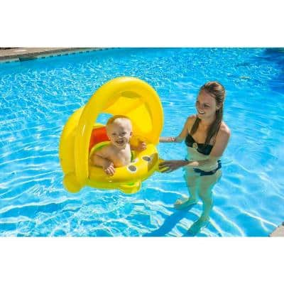 Baby Bear Swimming Pool Float Rider with Canopy