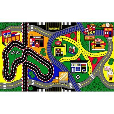 My Town 3 ft. x 5 ft. Kids Play Mat