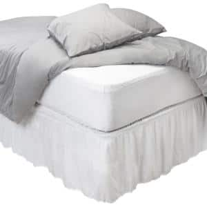 Sanitized Anti-Bacterial Polyester Queen Fitted Waterproof Mattress Cover