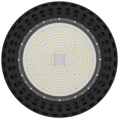 347-480-Volt 100-Watt Black Aluminum 4000K Integrated LED IP65 Dimmable UFO High Bay