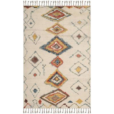 Kenya Ivory/Multi 6 ft. x 9 ft. Abstract Area Rug
