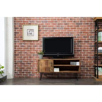 Devonshire 48 in. Natural Wood TV Stand Fits TVs Up to 55 in. with Storage Doors