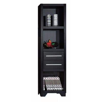 72 in. H Spacious Wooden Brown Media Tower with Drawers