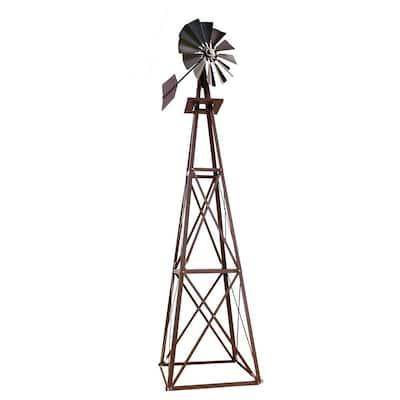 Large Bronze Powder Coated Backyard Windmill