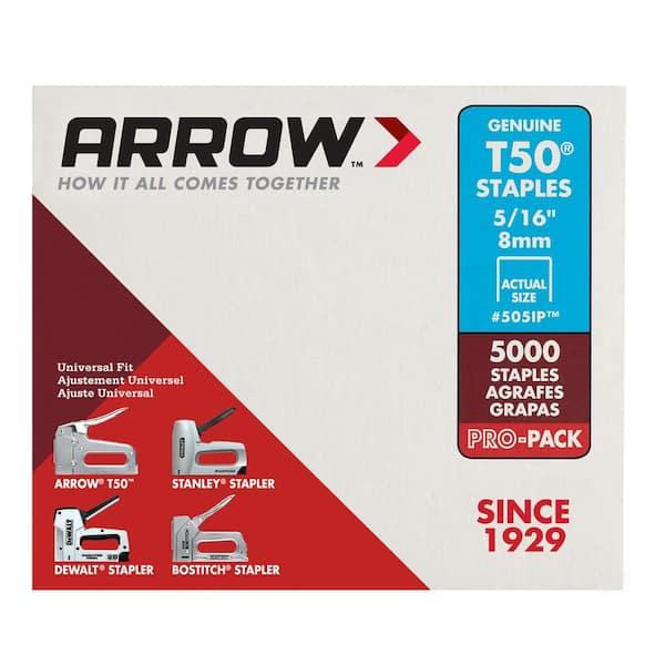 """2500 Arrow Fastener T50 5//16/"""" Staples Fit also Stanley Dewalt Bostitch Guns"""