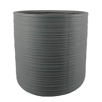 Amari 19.5 in. x 19.5 in. x 19.5 in. Gray Fiber Clay Planter