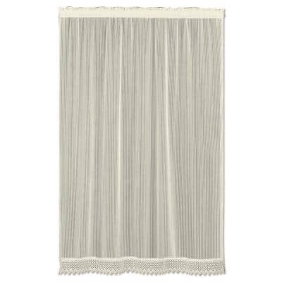 Chelsea Ecru Polyester Light Filtering Curtain Panel - 48 in. W x 84 in. L