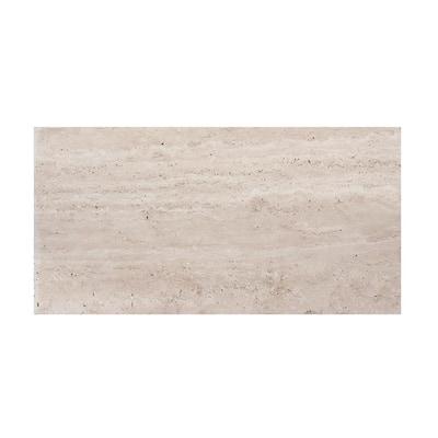 Travertine 3 in. x 6 in. Honed Traverine Wall Tile Sample