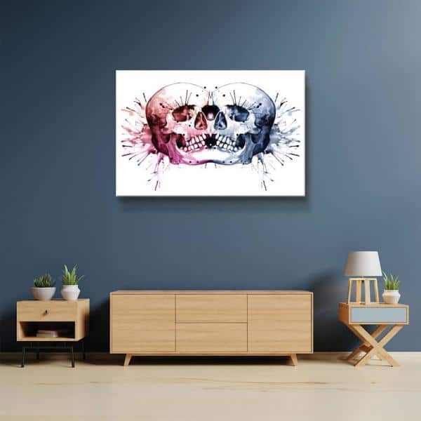 Artwall Conjoined Skull By Sam Nagel Canvas Wall Art 5nag001a2436w The Home Depot