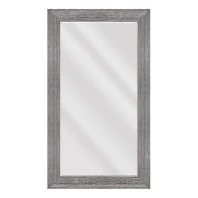 Large Rectangle Gray Beveled Glass Casual Mirror (55.5 in. H x 31.5 in. W)