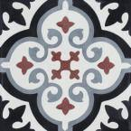 Fiore E Winter 8 in. x 8 in. Cement Handmade Floor and Wall Tile (Box of 16/ 6.96 sq. ft.)