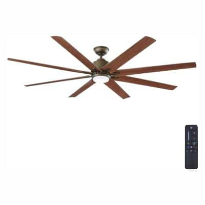 Kensgrove 72 in. LED Indoor/Outdoor Espresso Bronze Ceiling Fan with Remote Control