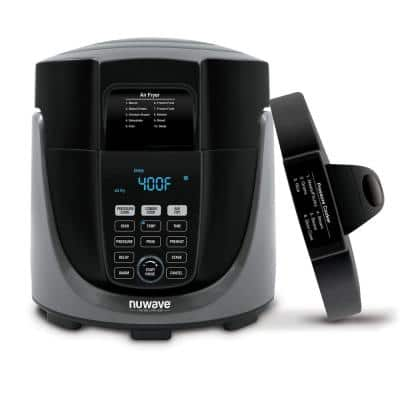 Duet 6 qt. . Black Electric Pressure Cooker/Air Fryer with 300 Pre-Programmed Recipes