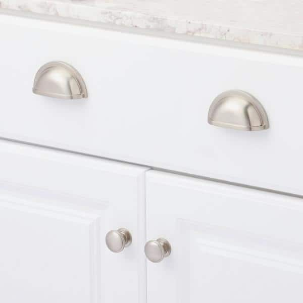 Hickory Hardware Williamsburg 3 In Center To Center Stainless Steel Cup Pull P3055 Ss The Home Depot
