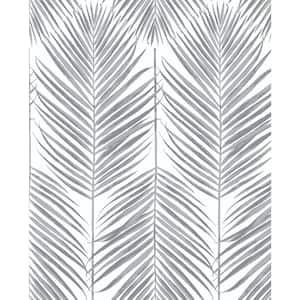 Paradise Palm Daydream Grey Botanical Vinyl Peel & Stick Wallpaper Roll (Covers 30.75 Sq. Ft.)