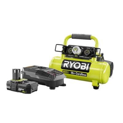 18-Volt ONE+ Lithium-Ion Cordless 1 Gal. Air Compressor Kit with 2.0 Ah Battery and 18-Volt Dual Chemistry Charger