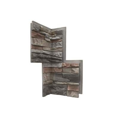 Stacked Stone Kenai 24 in. x 12 in. Faux Stone Siding Inside Corner Panel