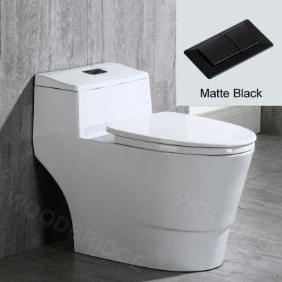 Conserver 1-Piece 1.28 GPF High Efficiency Dual Flush Elongated All-in-One Toilet in White with Seat Included