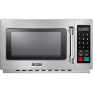 1.2 cu. ft. 1400-Watt Commercial Counter Top Microwave Oven in Stainless Steel Interior and Exterior, Programmable