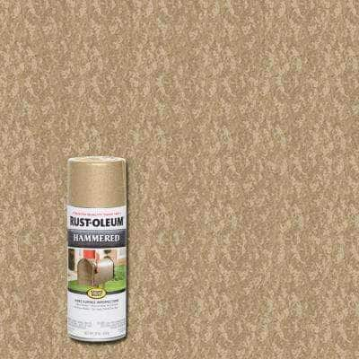 12 oz. Hammered Oatmeal Protective Spray Paint (6-Pack)