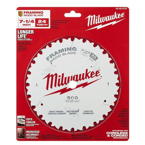 Milwaukee Saw Blade 7 1//4 Inch Circular Wood Cutting 40 Tooth Silver Power Tool