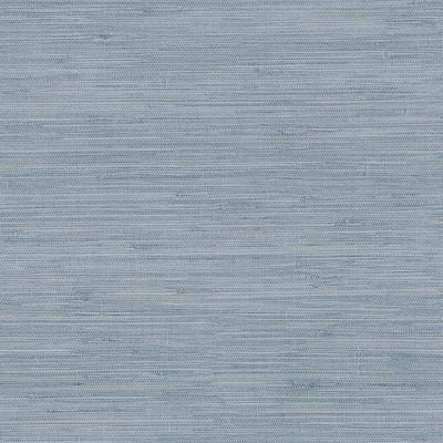 Waverly Blue Faux Grasscloth Blue Wallpaper Sample
