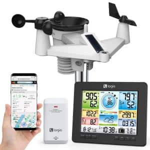 7-in-1 Wireless Indoor/Outdoor Wi-Fi Weather Station and Solar Panel