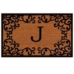 Chateaux Monogram Door Mat 24 in. x 36 in. (Letter J)