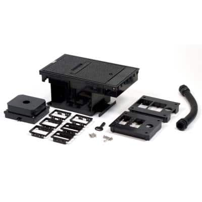 Wiremold Black 2-Gang Outdoor Ground Box Low Voltage Box Assembly for Communication and A/V