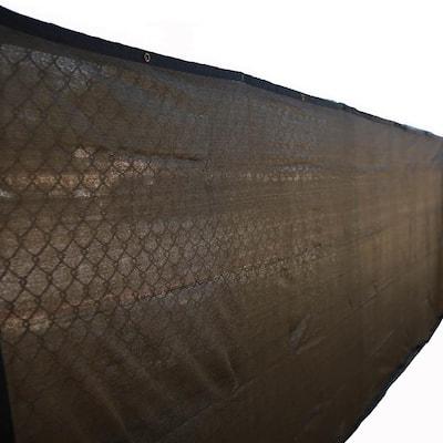 60 in. H x 600 in. W Polyethylene Brown Privacy/Wind Screen Garden Fence