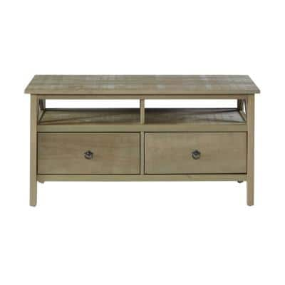 Titian Collection 50 in. Driftwood TV Stand with 2 Drawer Fits TVs Up to 40 in. with Built-In Storage