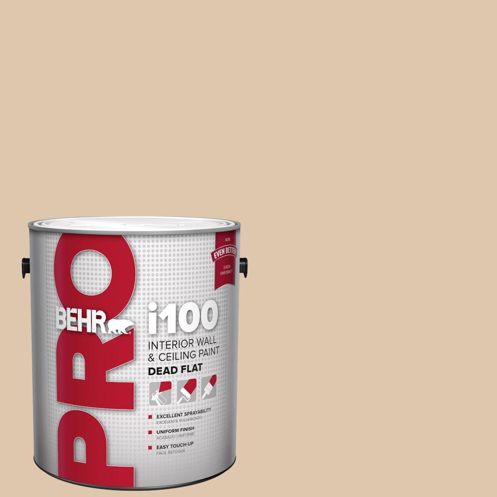 Behr Pro 1 Gal N260 2 Almond Latte Dead Flat Interior Paint Pr10501 The Home Depot