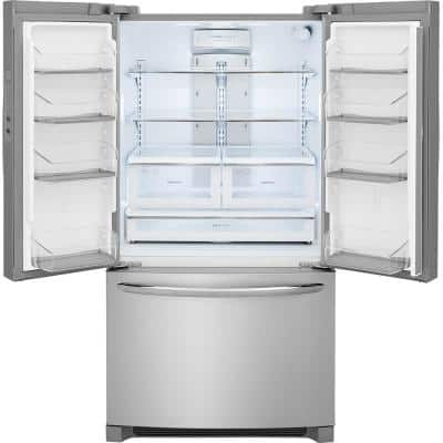27.6 cu. ft. Non-Dispenser French Door Refrigerator in Smudge-Proof Stainless Steel