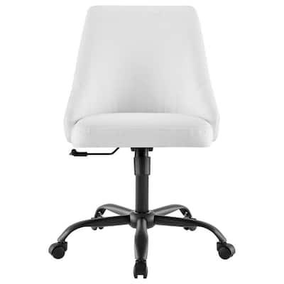 Designate Black White Swivel Upholstered Office Chair