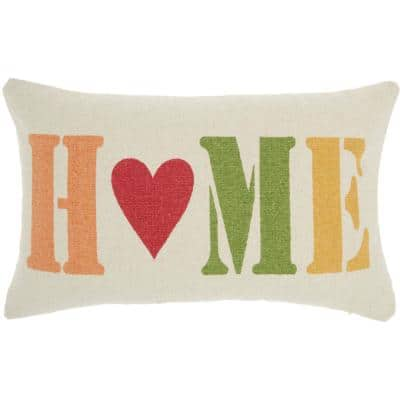 Holiday Pillows Multicolor 14 in. x 22 in. Quotes and Sayings Throw Pillow