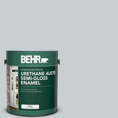 1 gal. #720E-2 Light French Gray Urethane Alkyd Semi-Gloss Enamel Interior/Exterior Paint