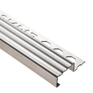 Novopeldano 4 Stainless Steel Natural 1/2 in. x 98-1/2 in. Tile Edging Trim