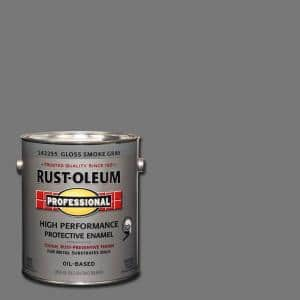 1 gal. High Performance Protective Enamel Gloss Smoke Gray Oil-Based Interior/Exterior Metal Paint (2-Pack)