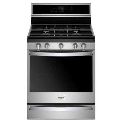 5.8 cu. ft. Smart Gas Freestanding Range in Fingerprint Resistant Stainless Steel with EZ-2-LIFT Grates