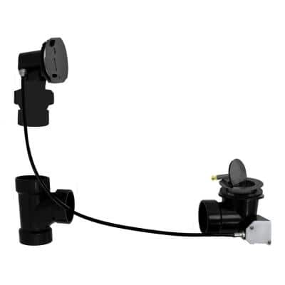 Ball Joint Head ABS 45 in. Cable Drive Bath Waste and Overflow Matte Black