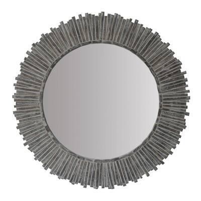 Medium Round Gray Modern Mirror (31.5 in. H x 31.5 in. W)