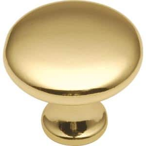 Conquest 1-1/8 in. Polished Brass Cabinet Knob
