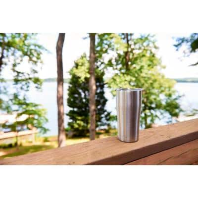 Flamingo Pattern 30 oz. Stainless Steel Tumbler with Lid