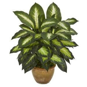 Indoor Dieffenbachia Artificial Plant in Ceramic Planter