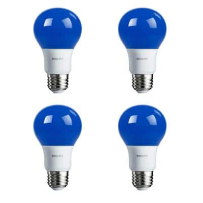 60-Watt Equivalent A19 Non-Dimmable LED Light Bulb Autism Speaks Blue (4-Pack)