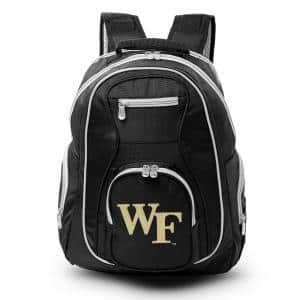 NCAA Wake Forest Demon Deacons 19 in. Black Trim Color Laptop Backpack